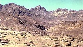Panorama of the Mount Sinai 1970s stock footage