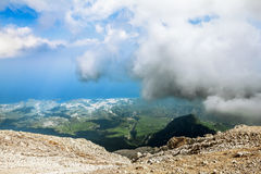 Panorama from Mount Tahtali, Turkey Royalty Free Stock Images