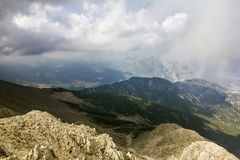 Panorama from Mount Tahtali, Turkey, Kemer Stock Image
