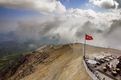 Panorama from Mount Tahtali, Turkey, Kemer. Amid dramatic sky Royalty Free Stock Image