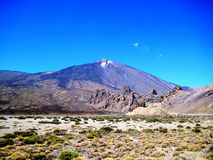 Panorama of Mount Teide (Tenerife, Spain). Mount Teide is a volcano on Tenerife in the Canary Islands, and its 3,718-metre (12,198 ft) summit is the highest Stock Image