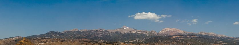 Panorama of Mount Teide volcano. And blue sky Stock Images