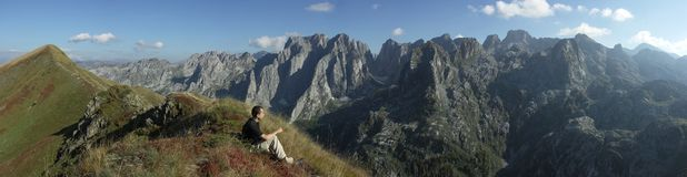 panorama mountain Obraz Royalty Free
