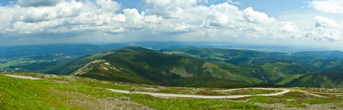 Panorama of mountain Stock Photography