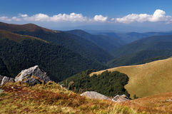 Panorama of mountain Royalty Free Stock Photo