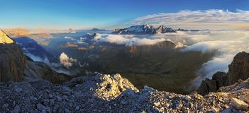 Panorama in mountain Alps Dolomity - Europe Stock Photos