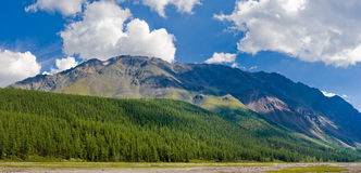 Panorama of mountain in Altai, Russia Stock Images