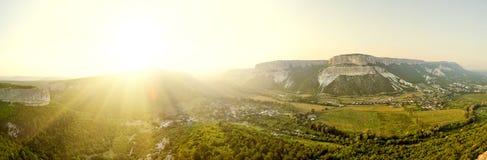 Panorama mountain area Stock Photo