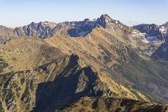 Panorama mountain autumn landscape. Tatry. Panorama mountain autumn landscape. Tatry stock photos