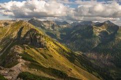 Panorama mountain autumn landscape Tatry.  stock images