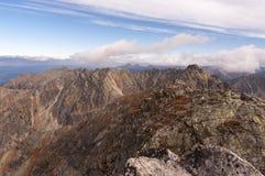 Panorama mountain autumn landscape. Tatry.  royalty free stock image