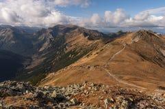 Panorama mountain autumn landscape. Tatry.  stock images