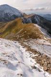 Panorama mountain autumn landscape. Tatry.  stock photo