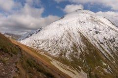 Panorama mountain autumn landscape. Tatry.  stock photos