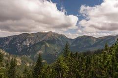 Panorama mountain autumn landscape. Tatry.  royalty free stock photography
