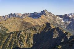Panorama mountain autumn landscape. Tatry. Panorama mountain autumn landscape. Tatry royalty free stock photography