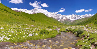 Panorama of mountain Caucasus Royalty Free Stock Images