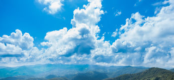 Panorama mountain complex Sky and clouds Stock Photography