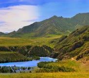 Panorama of mountain district Stock Photo