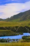 Panorama of mountain district Royalty Free Stock Photo