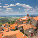 Panorama of mountain european village / Monsanto / Portugal Royalty Free Stock Photo