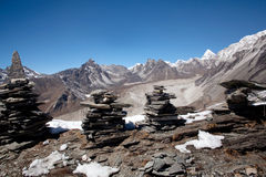 Panorama of mountain in Everest region, Nepal Stock Photography