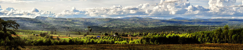 Panorama mountain and farm. In southern Thailand stock photos
