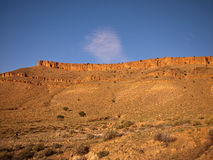Panorama Mountain flat. Against the sky Stock Photo