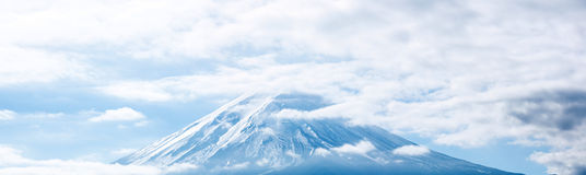 Panorama of Mountain Fuji Stock Image