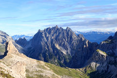 Panorama with mountain Haunold in Sexten Dolomites, South Tyrol Stock Photos