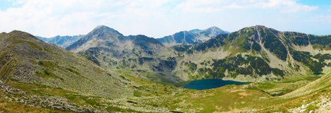 Panorama of mountain hill in National Park Pirin, Bulgaria. During the summer stock images