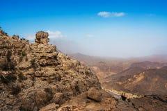 Panorama of the mountain Jebel Shams