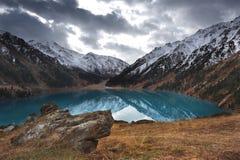 Panorama mountain lake Stock Image