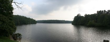 panorama mountain lake Zdjęcia Royalty Free