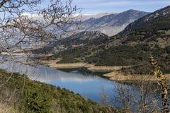 The panorama mountain lake Stock Photo