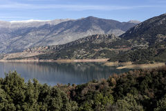 The panorama mountain lake Stock Photography