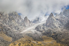 The panorama of mountain landscape of Ala-Archa gorge Stock Image