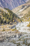 The panorama of mountain landscape of Ala-Archa gorge Stock Photography