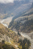 The panorama of mountain landscape of Ala-Archa gorge  Royalty Free Stock Photos