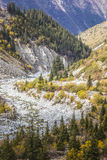 The panorama of mountain landscape of Ala-Archa gorge Royalty Free Stock Image