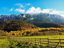 Panorama mountain landscape - autumn royalty free stock image