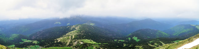 Panorama mountain landscape Royalty Free Stock Images
