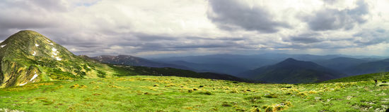 Panorama mountain landscape Stock Photography