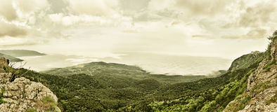 Panorama of Mountain Landscape from Crimea Royalty Free Stock Photos
