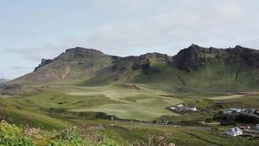 Panorama mountain landscape, Iceland. stock footage