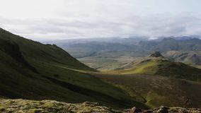 Panorama mountain landscape, Iceland. stock video footage