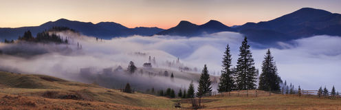 Panorama of mountain landscape Royalty Free Stock Images
