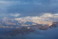 Panorama of mountain landscape in North India Stock Photo