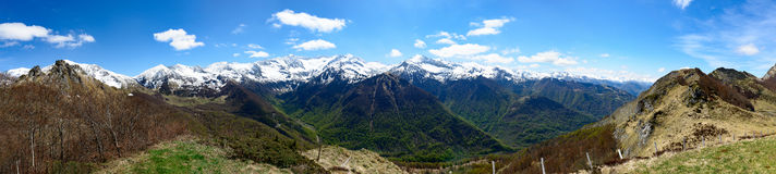 Panorama of mountain landscape in the Pyrenees, France Royalty Free Stock Photography
