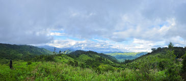 Panorama mountain at Maewong National Park Royalty Free Stock Image